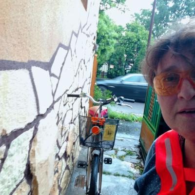 Hazaértünk - Eső előtt hazaértünk a biciklimmel.